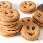 cookie, biscuit, round